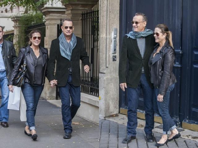 Том Хэнкс с женой в Париже