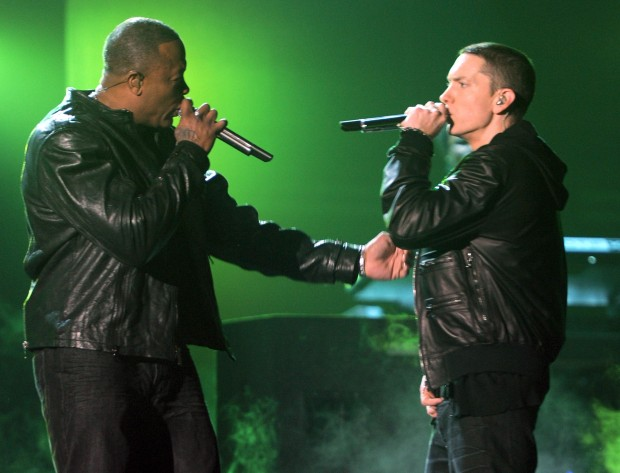 Эминем и Dr. Dre на совместном концерте