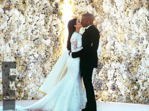 Фото со свадьбы Ким и Канье