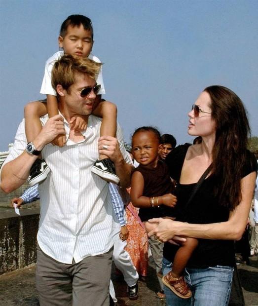 Анджелина и Брэд - счастливые родители