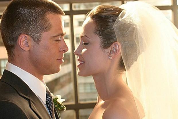 Свадьба Брэда Питта и Анджелины Джоли