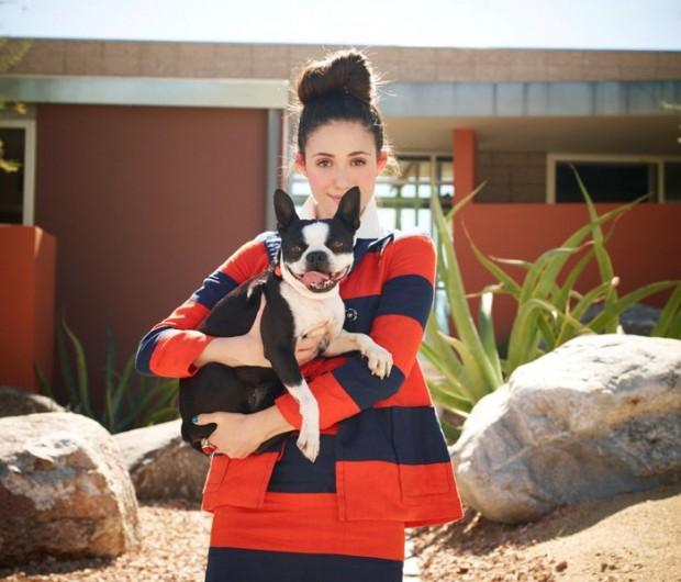Эмми Россум с собакой