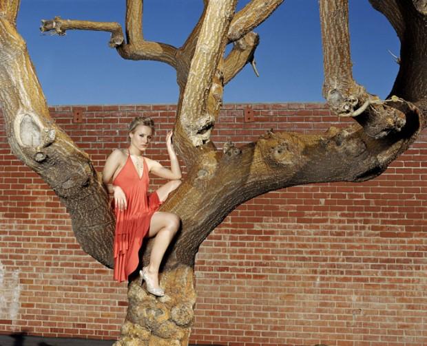 Кристен Белл на дереве