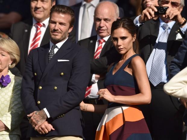 Дэвид и Виктория на торжественной церемонии