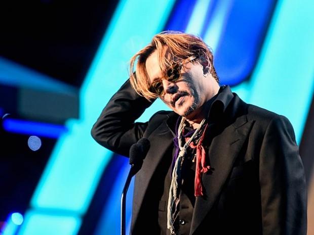 Пьяный Джонни Депп на Hollywood Film Awards