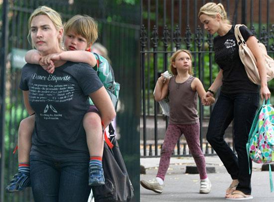 Кейт Уинслет с детьми