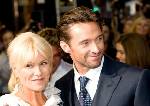Хью Джекман с женой, звезда Голливуда, красная дорожка