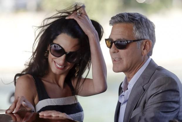 Амаль и ее жених Джордж Клуни