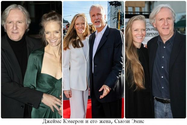 Джеймс Камерон с супругой