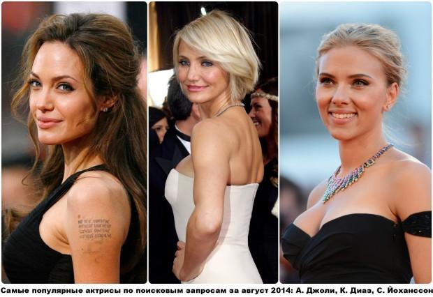 103 самые популярные актрисы по поисковым запросам за август 2014