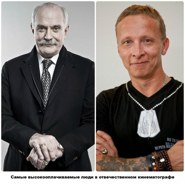 Михалков и Охлобыстин на двоих заработали 4,5 миллиона долларов