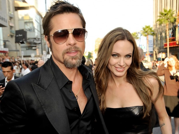 Анджелина со своим мужем Брэдом Питтом
