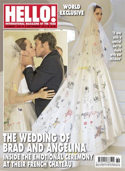 """Фотография со свадьбы Питта и Джоли стоимостью 7 миллионов на обложке """"Hello!"""""""