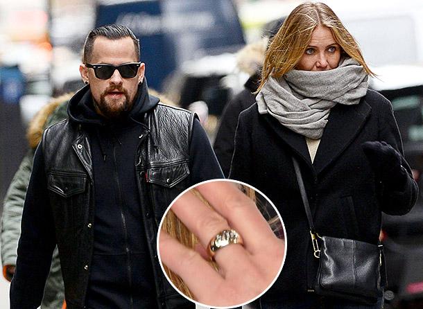 Камерон Диаз с обручальным кольцом