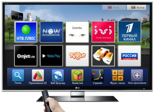 сервисы на телевизоре LG