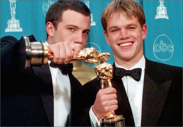Бен Аффлек и Мэтт Дэймон на церемонии вручения премии Оскар