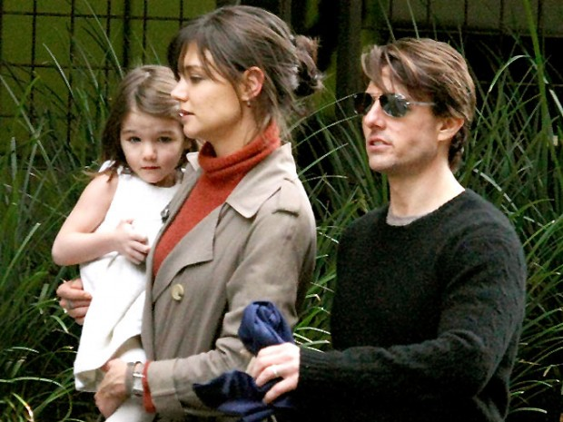 Том Круз и его бывшая жена вместе с дочкой
