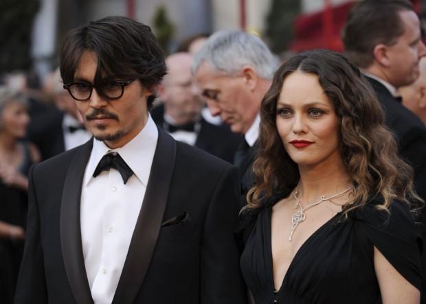 Джонни Депп со своей бывшей женой Ванессой Паради
