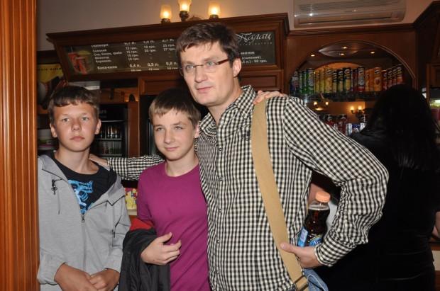 Игорь Кондратюк с сыном
