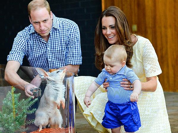 Недавнее фото малыша. Кейт, Уильям и Джордж на выставке