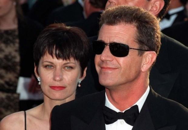 Мел Гибсон с экс-супругой Робин Мур
