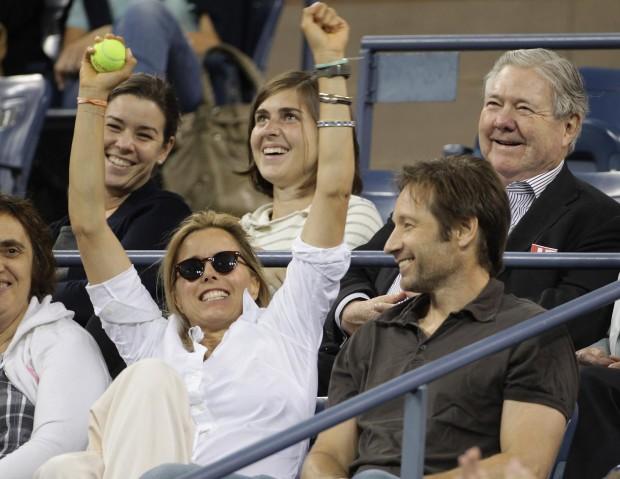Дэвид Вместе с Тэой на теннисном матче