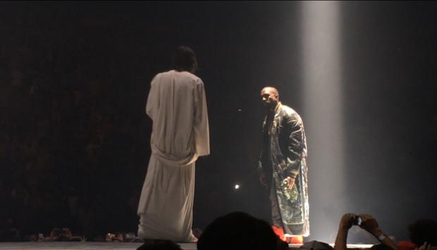 Иисус на концерте Канье Уэста