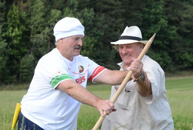 Жерар Депардье и Александр Лукашенко