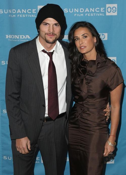 Деми Мур с супругом Эштоном Катчером