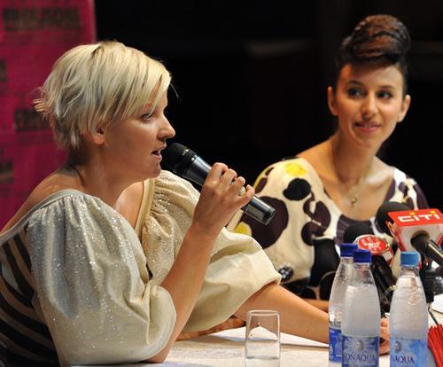 Джамала со своим продюсером Леной Коляденко