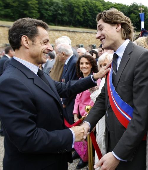 Николя Саркози с сыном Жаном