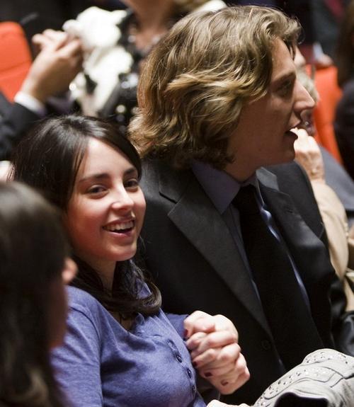 Жан Саркози с женой Джессикой Себаун