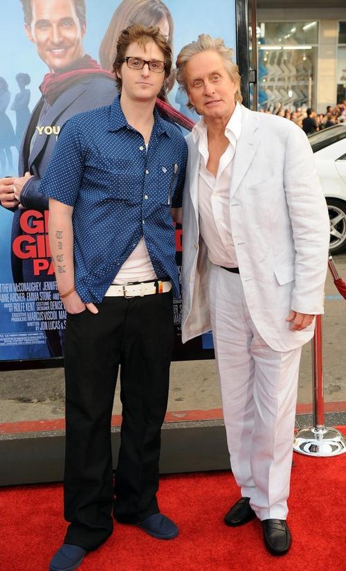Майкл Дуглас с сыном Кэмероном
