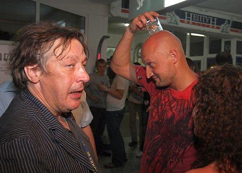 Михаил Ефремов с Гошей Куценко