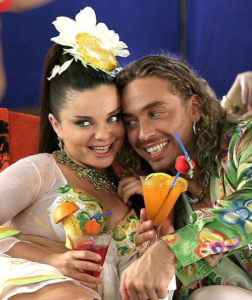 Наташа Королева со своим мужем Тарзаном (Сергеем Глушко)