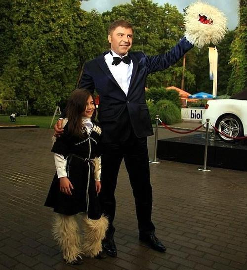 Сосо Павлиашвили со старшей дочерью