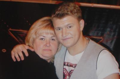Алексей Кузнецов с мамой Любовью Антоновной