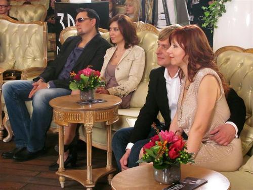 Сергей Большой и Алена Винницкая на съемках телепрограммы