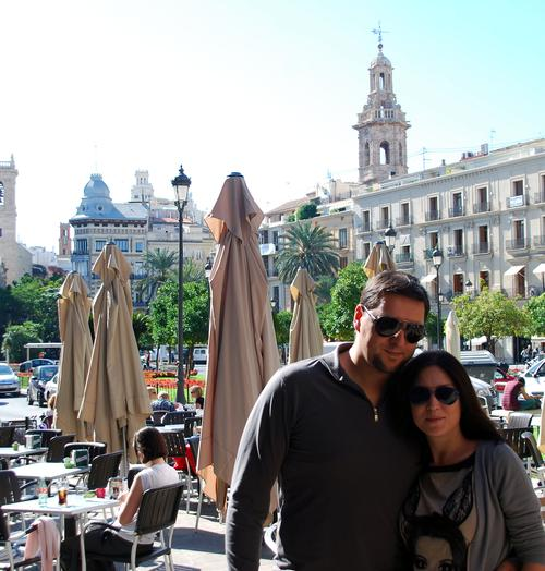 Алена Винницкая с мужем в Испании