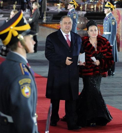 Алишер Усманов с женой