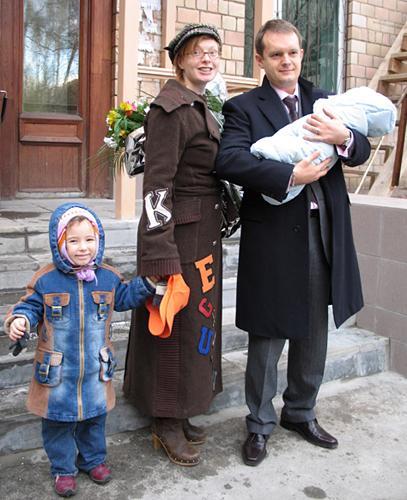 Амалия с супругом Вадимом Беляевым и детьми