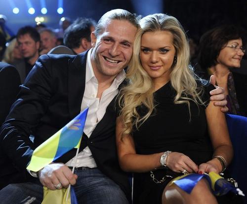 Андрей Воронин с женой Юлей