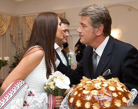 Виктор Ющенко с невесткой