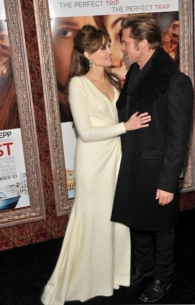 Анджелина Джоли с супругом Брэдом Питтом