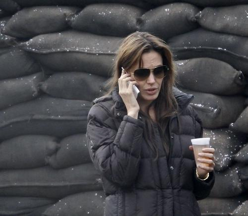 Анджелина Джоли на съемках фильма о Боснии