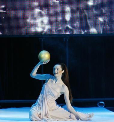 Олимпийская чемпионка по художественной гимнастике Анна Бессонова была в превосходной форме