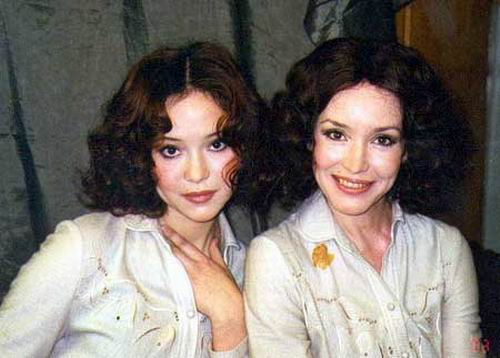 Анна Самохина с дочерью Александрой