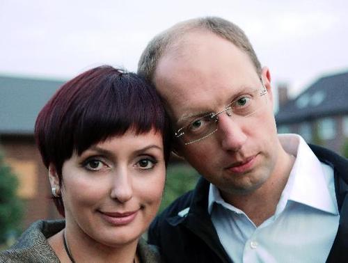 Арсений Яценюк с супругой Терезией