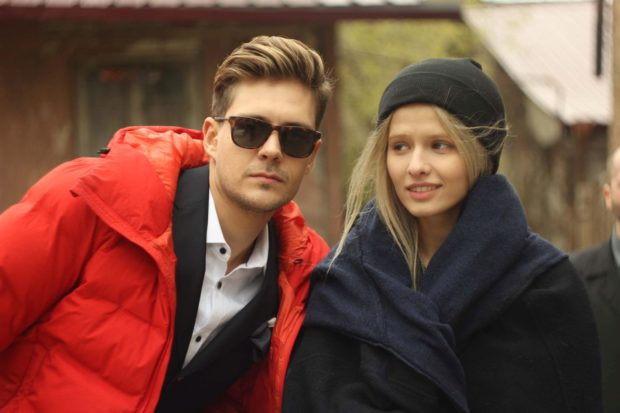 Бикович с партнёршей по фильму Любовью Новиковой