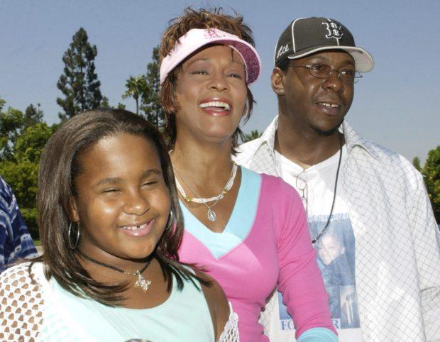 Бобби Браун и Уитни Хьюстон с дочерью